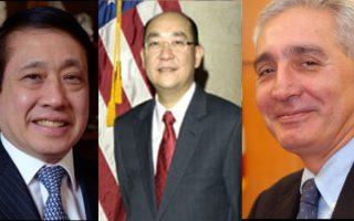三位亚裔法官,左起为华裔法官谭国帧、翁家驹以及印度裔法官辛格(Anil Singh)。 (纽约州法院网站(大纪元合成))