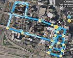 波城华埠邻近街道发生交通事故的数据分析图。(波士顿交通局提供)
