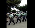 廣東華口村村民為土地維權,遭到警方鎮壓。(視頻截圖/志願者提供)