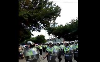 广东华口村村民为土地维权,遭到警方镇压。(视频截图/志愿者提供)