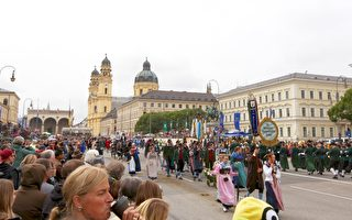 组图:德国慕尼黑啤酒节大游行(一)