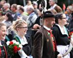巴伐利亞人在十月啤酒節遊行中展露對生活的熱愛(黃芩/大紀元)