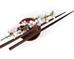 樱花和筷子。(fotolia)