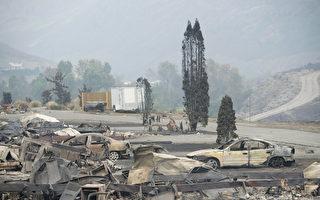 圖說:卑詩省今夏山火肆虐,圖為卑詩內陸Boston Flats社區被山火夷為廢墟。(加通社)