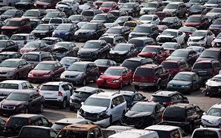 圖說:圖為卑詩省汽車保險局(ICBC)在新西敏市的低陸平原報廢汽車回收場,密密麻麻的報廢車輛。(加通社)