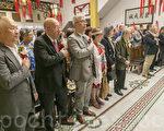 宁阳会馆主席黄惠喜9月2日晚,接任中华总会馆总董,200多各侨团代表到场祝贺。(曹景哲/大纪元)