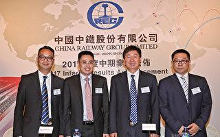 中国中铁海外新订单按年减8.2%