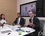 右一:瑞银财富管理环球家族办公室大中华区主管Enrico Mattoli。(余钢/大纪元)