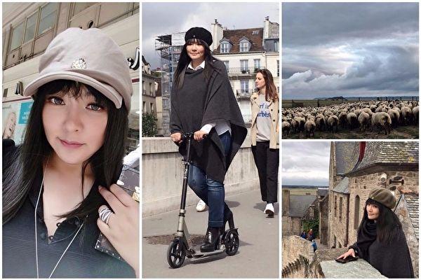 星座专家唐绮阳(本名唐立淇)在巴黎出外景录节目时,遇到飞车抢劫。(亚洲卫星电视提供)