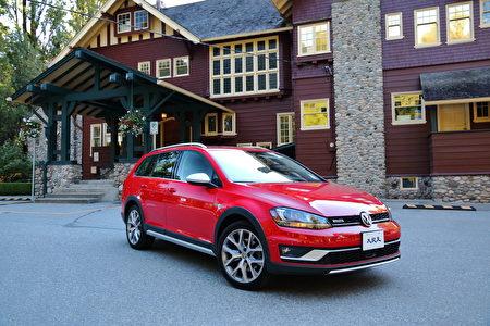 2017 Volkswagen Golf Alltrack。〈李奧/大紀元〉