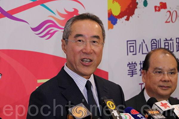 前政务司司长唐英年将于10月1日接任西九管理局新主席,任期两年。(蔡雯文/大纪元)