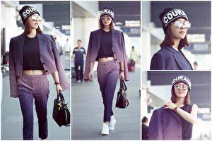 蔡依林受邀赴米兰时装周,于9月21日著秋冬新装出发。( Versace/大纪元合成))