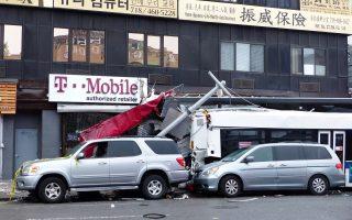 法拉盛巴士相撞3死 目擊者:車快得「飛起來」