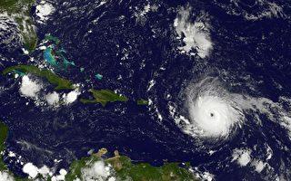 伊瑪在9月5日接近加勒比地區,成為非常危險的五級颶風,距離安提瓜島東部約270英里(440公里),最大持續風速為175公里(280公里)。 (AFP PHOTO / NASA/GOES Project)