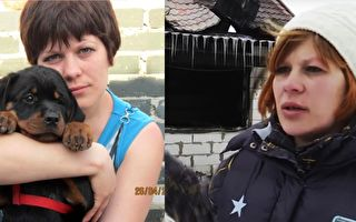 狗狗基拉誤吞滅鼠藥變盲,主人不嫌棄領養了牠。4年後,牠用行動報恩。(Facebook,視頻截圖/大紀元製圖)