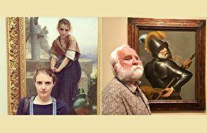 在美术馆的古画中看到自己的脸 这些观众惊呆了