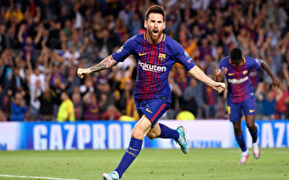 凭借梅西的梅开二度,巴塞罗那在主场3:0完胜尤文图斯。 (Alex Caparros/Getty Images)