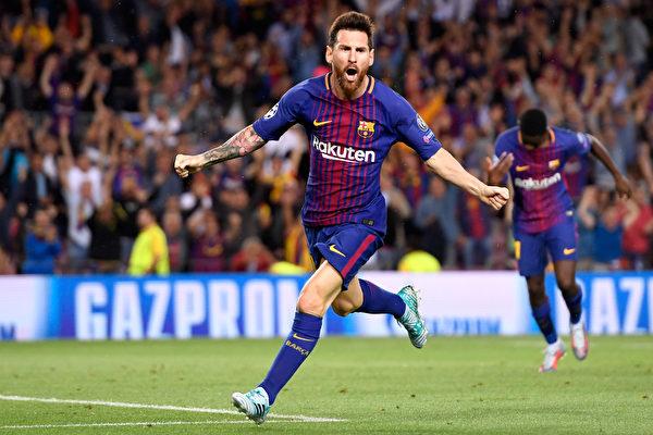 憑藉梅西的梅開二度,巴塞羅那在主場3:0完勝尤文圖斯。 (Alex Caparros/Getty Images)