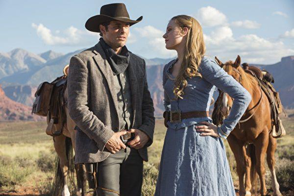 第六十九届黄金时段艾美奖揭晓得奖名单,《西方极乐园》(Westworld)(陆译:《西部世界》)荣获5项艾美奖,图为剧照。(HBO提供)