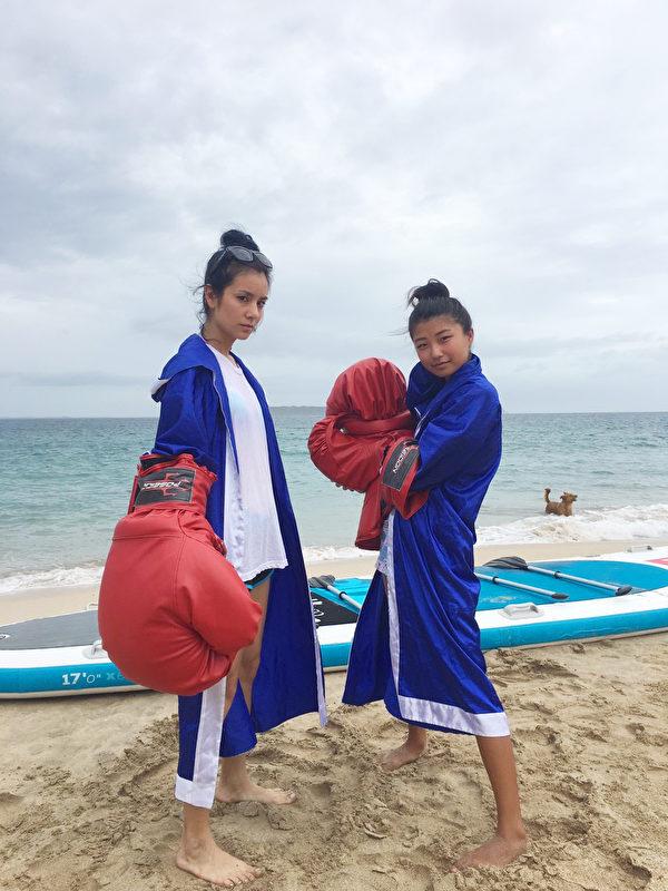 《食尚玩家》海上拳擊莎莎隊。(TVBS提供)