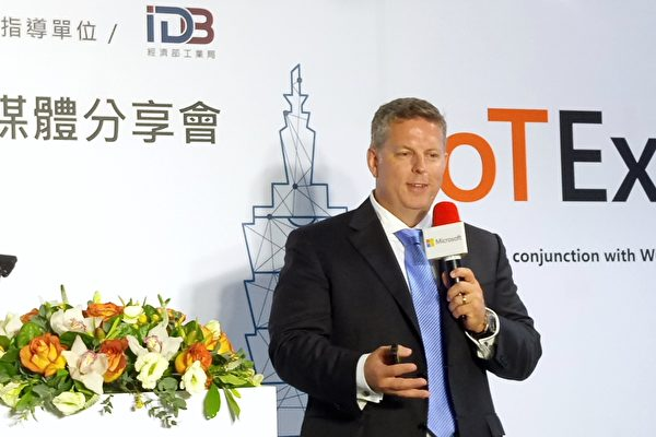 微軟全球副總裁詹德(Jason Zander)表示,微軟將協助亞洲市場加快數位轉型的步伐。(陳懿勝/大紀元)