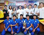 桃園市長鄭文燦(後中)要給予特色運動學校更多支持與鼓勵。(桃市府/提供)