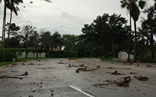 组图:飓风艾玛中心西移 强风暴雨到南佛州