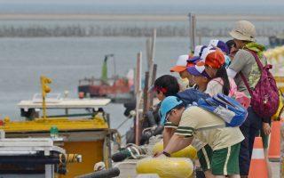 香山湿地内的海山渔港为环境保护解说题材。(新竹市府提供)