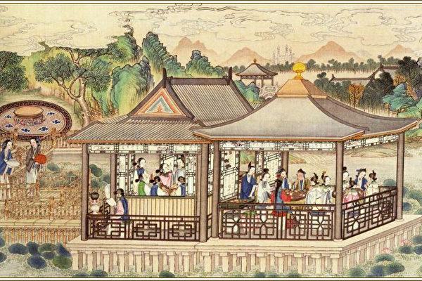 《红楼梦》绘本,清代孙温绘。(公有领域)
