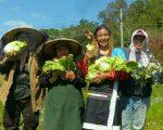 新美部落打手機鄒自然農園,永續耕作。(嘉義林管處提供)
