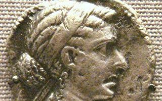 一枚古希腊银币上的克丽欧佩特拉七世(埃及艳后)像。(维基百科公共领域)
