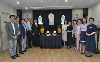 张大使夫妇和与会侨领合影(驻法国台北代表处提供)