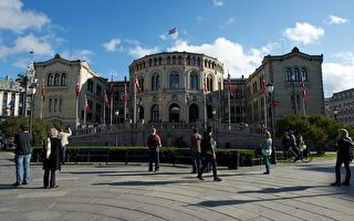 图为挪威国会大厦。(Ragnar Singsaas/Getty Images)