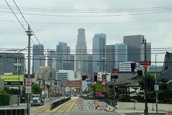 洛杉矶获得2028年奥运会的主办权。图为洛杉矶市中心。(FREDERIC J. BROWN/AFP/Getty Images)