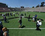 帕萨迪纳的玫瑰碗体育场。(ROBYN BECK/AFP/Getty Images)