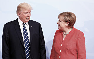 德国总理默克尔与美国总统川普在一些国际问题上观点不同。(Friedemann Vogel - Pool/Getty Images)