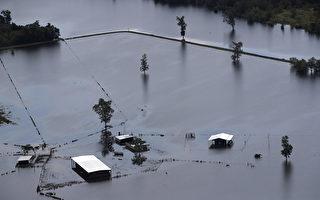 9月5日德州Beaumont地區遭到颶風哈維襲擊,受災嚴重。(Justin Sullivan/Getty Images)