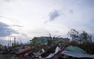 遭受艾瑪颶風重創的聖馬丁島。(LIONEL CHAMOISEAU/AFP/Getty Images)