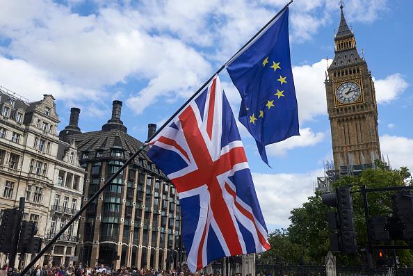 脱欧谈判双方在分手费的问题上观点分歧严重。( NIKLAS HALLE'N/AFP/Getty Images)