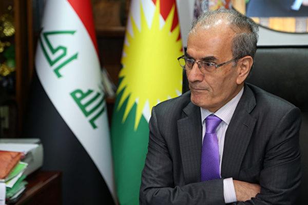 伊拉克基尔库克省议会表决通过,将参加25日举行的库尔德族独立公投,该省省长卡林(如图)因而遭到伊拉克国会罢免。(MARWAN IBRAHIM/AFP/Getty Images)