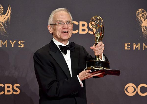 唐‧罗伊‧金(Don Roy King)凭借《周六夜现场》获最佳综艺系列导演奖。(Alberto E. Rodriguez/Getty Images)