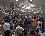 墨西哥在当地时间周二(19日)发生7.1级强震,令大量建筑物倒塌造成重大伤亡,最新死亡人数已增至248人。(Rafael S. Fabres/Getty Images)