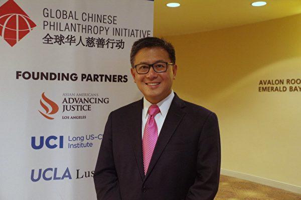 正在竞选加州州长的现任财务长江俊辉 (John Chiang)。(刘菲/大纪元)