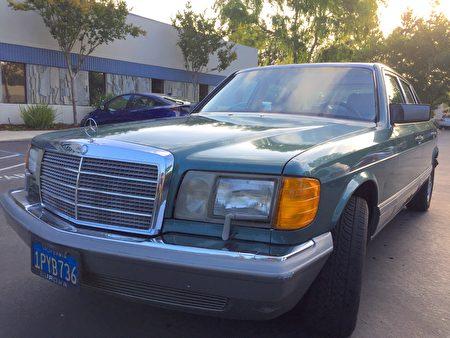 湾区生物学家的绿色奔驰车,新唐人湾区捐车让他好省心。(湾区非营利机构,新唐人提供)