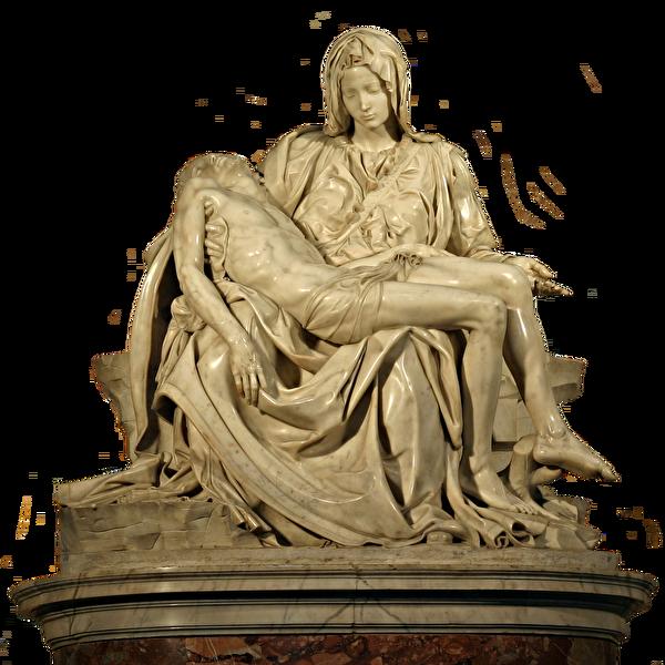 米開朗基羅的成名作《哀悼基督》(亦稱《聖母憐子》)雕塑。(shutterstock)