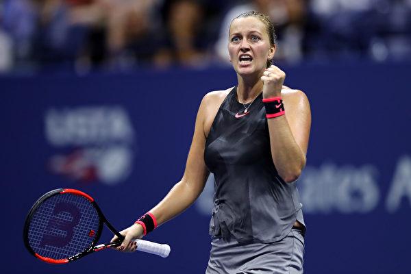 两届温网冠军捷克名将科维托娃。 ( Elsa/Getty Images)