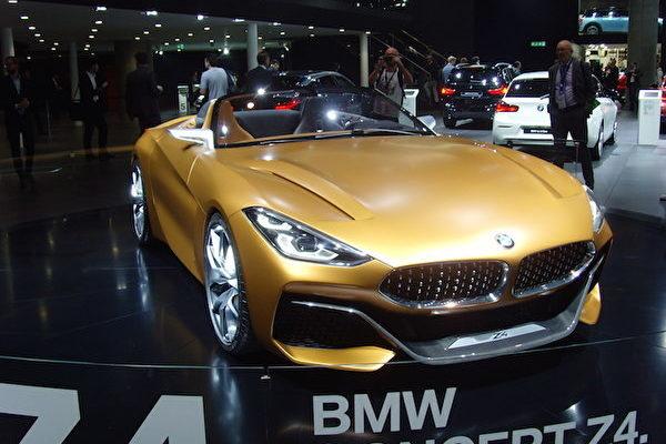 2017年法兰克福国际车展IAA上的宝马Z4概念车。(穆华/大纪元)