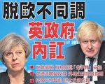 對於脫歐的路線,英國內閣的分歧是無法掩飾的。(大紀元合成/Getty Images)