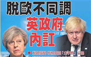 脱欧不同调 英国政府内部出现分歧