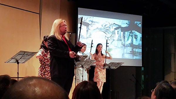 台灣著名的二胡演奏家溫金龍及其團隊赴倫敦表演。(羅元/大紀元)
